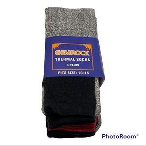 🆕 GEMROCK Thermal Socks Shoe Size 10-15 3 Pair